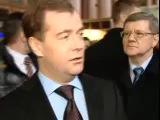 Визит Медведева на Киевский вокзал 10.02.11